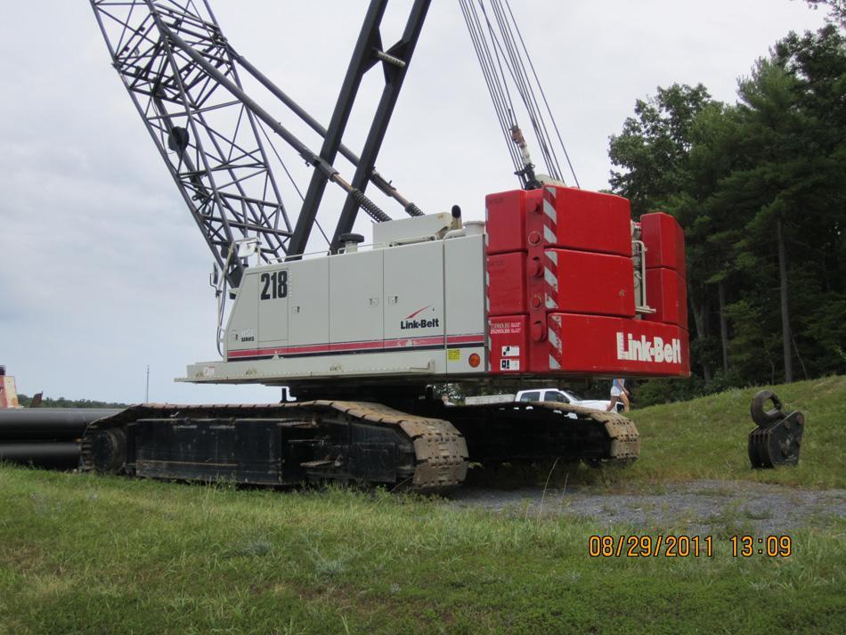 Link Belt Crawler Cranes : Link belt hsl hylab lattice boom crawler crane c