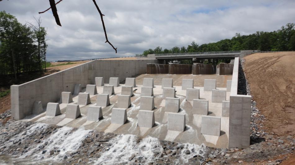 Concrete Baffle Wall Design : Recent heavy concrete construction c william hetzer inc